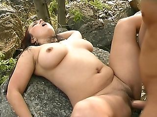 Bobcat, Couple, Cute, Doggystyle, Force, Forest, Hardcore, Long Hair, MILF, Nature,