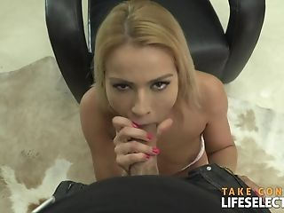 Blonde, Blowjob, Boobless, Couple, Cowgirl, Cum In Mouth, Hardcore, HD, Huge Cock, Kissing,
