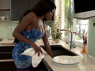 American, Ass, Black, Boots, Boy, Diamond Jackson, From Behind, Kitchen, Mature, Mom,
