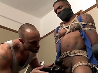 Bathroom, BDSM, Big Black Cock, Black, Blowjob, Bondage, Caucasian, Couple, Cumshot, Domination,