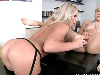 Blonde, Blue Angel, Britney Spring, Cunt, Dildo, HD, Lesbian, Russian, Sex Toys,