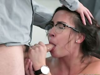 Beauty, Blowjob, Brunette, College, Cute, Glasses, Hardcore, Horny, Master, Slut,