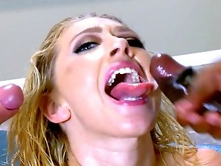Anal Sex, Ass, Big Black Cock, Big Tits, Blonde, Blowjob, Cum In Mouth, Cumshot, Deepthroat, Doggystyle,