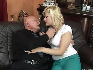 69, Blonde, Blowjob, Grandpa, Old, Old And Young, Oral Sex, Sex Toys, Teen,
