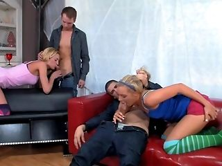 Blonde, Foursome, Group Sex, Hardcore, Seduction, Swinger,