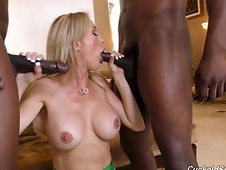 Big Black Cock, Big Cock, Big Tits, Blonde, Blowjob, Brandi Love, Cowgirl, Doggystyle, Fake Tits, Handjob,