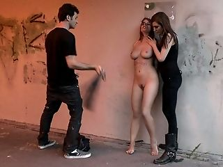 Abuse, Babe, Blowjob, Bondage, European, Humiliation, Mona Lee, Natural Tits, Outdoor, Public,