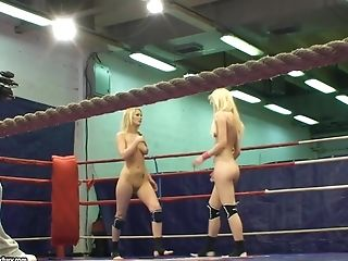 Blonde, Nude, Tight Pussy, Wrestling,