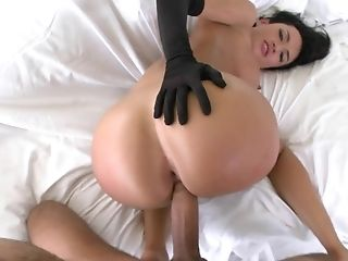 Black, Brunette, Doggystyle, Franceska Jaimes, French, Fucking, Gloves, Hardcore, Latina, Oral Sex,
