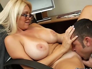 Big Tits, Blonde, Blowjob, Bold, Charlee Chase, Facial, HD, Teacher,