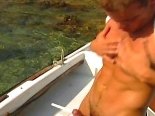 Amateur, Big Cock, Boat, Cumshot, Dick, Jerking, Masturbation, Moaning, Muscular, Outdoor,