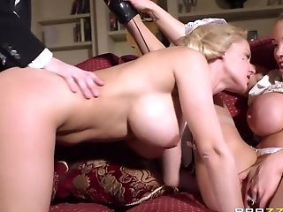 Anal Sex, Big Cock, Big Tits, Blonde, British, Facial, HD, Loulou, MILF, Threesome,