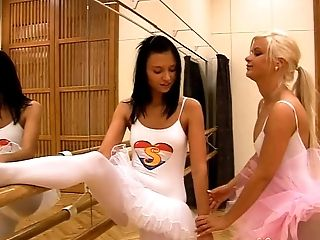 Ballerina, Clamp, Cute, Dancing, Gym, Lesbian, Nylon, Pantyhose, Pussy, Sport,