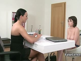 Audition, Big Tits, Casting, Dildo, Fucking, Lesbian, Natural Tits, Reality, Sex Toys, Strapon,