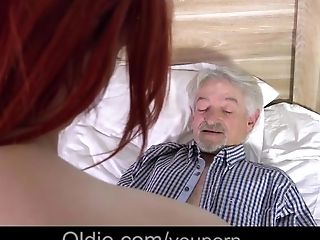 Cunnilingus, Dirty, Ginger, Grandpa, Horny, Old, Old And Young, Teen,