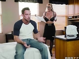 Ball Licking, Blonde, Blowjob, Bra, Couple, Doggystyle, Fetish, Fingering, Foot Fetish, Glasses,