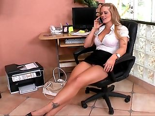 Babe, Blonde, Boss, Holly Heart, Horny, MILF, Office, Skirt, Story, White,