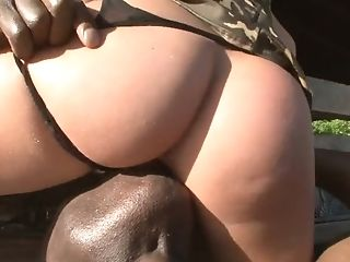 Ass, Babe, Big Black Cock, Blowjob, Brunette, Cute, Deepthroat, Hardcore, Interracial, Military,