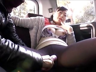 Backseat, Bra, Car, Clothed Sex, Couple, Ethnic, Fucking, Hairy, Hardcore, Japanese,