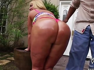 Anal Sex, Ass, Big Ass, Big Black Cock, Big Tits, Bikini, Blonde, Blowjob, Cum In Mouth, Cum Swallowing,
