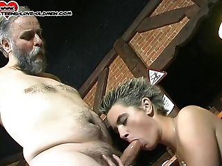Blowjob, Couple, Hardcore, Jeans, Missionary, Natural Tits, Reality, Shaved Pussy, Short Haired,
