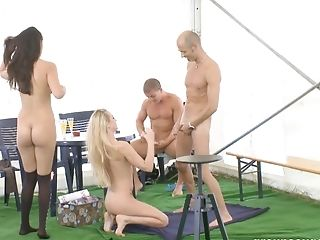 Diana Stewart, Foursome, Group Sex, Hardcore, Mature, Orgy, Rough,