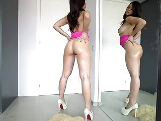 Ass, Brunette, College, Gangbang, Hardcore, HD, High Heels, Legs, Nekane, Oiled,
