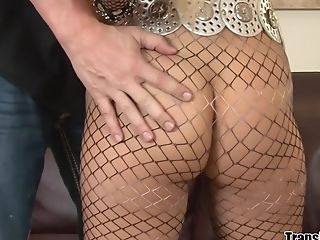 Big Cock, Blowjob, Cinema, Guy Fucks Shemale, HD, Pantyhose, Shemale, Tranny,