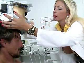 Big Tits, Blowjob, Clinic, Cum Swallowing, Dick, Doctor, Evita Pozzi, Facial, Handjob, HD,
