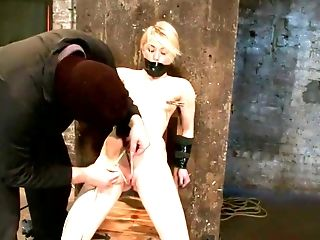 Ash Hollywood, BDSM, Cameltoe, Clamp, Gagging,
