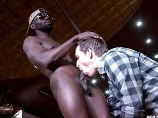 Bar, Big Black Cock, Blowjob, Felching, Huge Cock, Hunk, Jock, Muscular, Striptease,