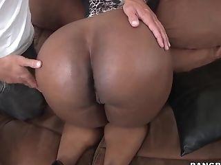 Big Ass, Black, Blowjob, Brunette, Handjob, Hardcore, HD, Interracial, Layla Monroe, Natural Tits,