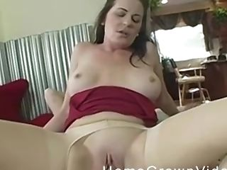 Big Tits, Couple, Cowgirl, Doggystyle, Glasses, Hardcore, Horny, Housewife, Lingerie, Mature,