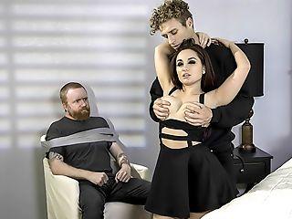 Blowjob, Bondage, Brunette, Caucasian, Cheating, Dirty, Felching, Hardcore, HD, Leather,
