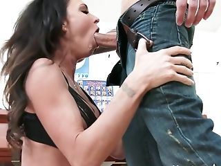 Big Cock, Big Tits, Black, Blowjob, Bold, Brunette, Facial, Fetish, Foot Fetish, HD,
