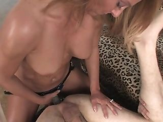 Babe, Bikini, Blonde, Couple, Dildo, Handjob, Natural Tits, Oiled, Pegging, Pornstar,