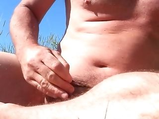 Beach, Handjob, HD, Jerking, Masturbation, Mature, Nudist, Outdoor,