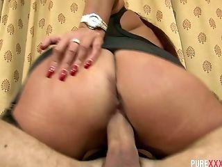 Ass, Big Tits, Blowjob, Bold, Boots, Clit, Cowgirl, Cumshot, Emma Butt, Glasses,