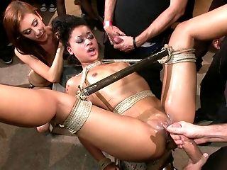 Anal Sex, BDSM, Black, Bondage, Cum, Cumshot, Domination, Extreme, Facial, Gangbang,