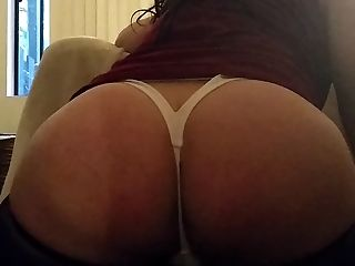 Big Ass, HD, Lingerie, POV, Thong, Webcam, White,