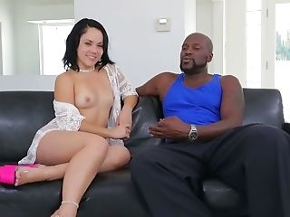 Audition, Beauty, Black, Boobless, Brunette, Casting, Dirty Talk, Interracial, Kristina Rose, Reality,