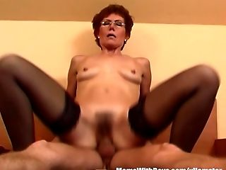 Blowjob, Boy, Cumshot, Dick, Granny, HD, Mature, MILF, Mom, Redhead,