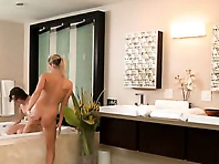 No Banheiro, Beleza, Peitos Grandes, Loiras, Boquete, Fofa, Garganta Profunda, Heather Starlet, Horny, Massagem ,