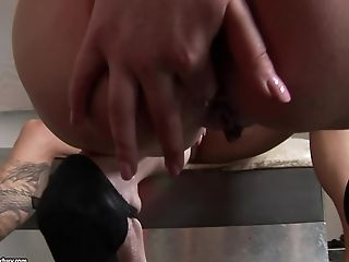 Anal Sex, Ass Fucking, Babe, Backstage, Brunette, Double Penetration, Mmf, Skinny, Threesome,