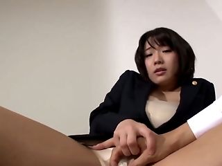 Big Tits, Horny, Japanese, Nipples, Office, Skirt,