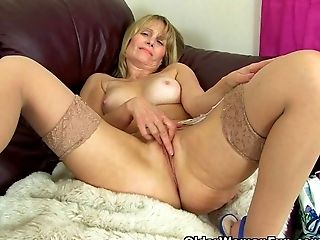 British, GILF, Lingerie, Mature, MILF, Stockings,
