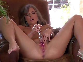 Adrienne Manning, Dildo, Dirty Talk, Fucking, HD, Masturbation, Sex Toys, Shaved Pussy, Solo,