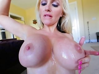Big Tits, Blonde, Couple, Fake Tits, Hardcore, Long Hair, Pornstar, Titjob,