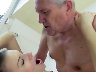 Blonde, Cute, Doggystyle, Grandpa, Hardcore, HD, Teen,