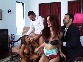 Big Tits, British, Brunette, Creampie, German, Group Sex, HD, Karlie Montana, Madison Ivy, Natural Tits,
